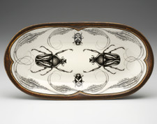 Rectangular Serving Dish: Flower Beetle