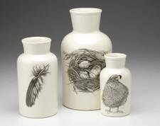 Set of 3 Jars: Quail #3