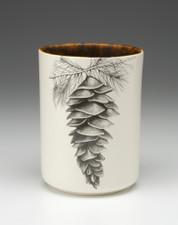 Utensil Cup: White Pine Cone