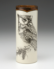 Small Vase: Screech Owl #1