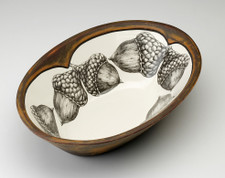 Large Serving Dish: Double Acorn