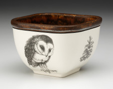 Small Square Bowl: Barn Owl