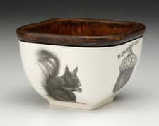 Small Square Bowl: Squirrel