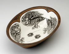 Large Serving Dish: Screech Owl #2