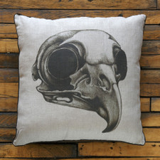 Decorative Pillow: Owl Skull