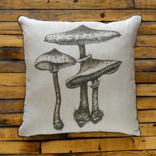 Decorative Pillow: Parasol Mushroom