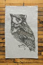 Tea Towel: Screech Owl