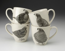 Set of 4 Mugs: Quails