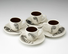 Espresso Set of 4: Ferns