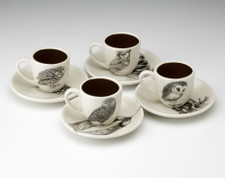 Espresso Set of 4: Owls