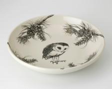 Shallow Bowl: Barn Owl