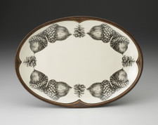 Small Oval Platter: Double Acorn