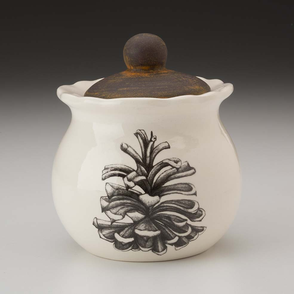 Sugar Bowl Pinyon Pine Cone Laura Zindel Design