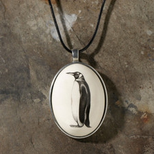 Ceramic Pendant: King Penguin - Laura Zindel Design