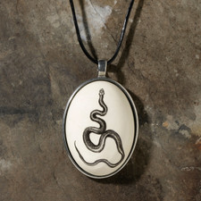 Ceramic Pendant: Texas Rat Snake