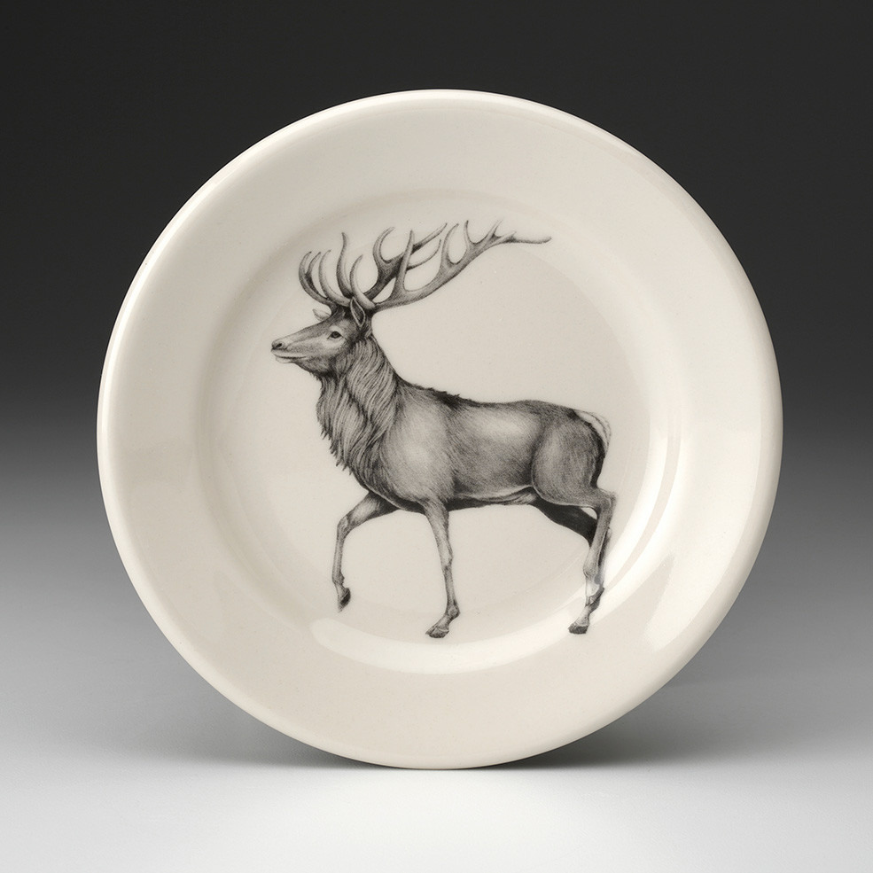 Salad Plate Red Buck Deer Laura Zindel Design