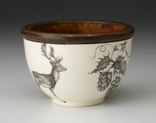Small Round Bowl: Fallow Buck & Hops