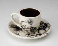 Espresso Cup and Saucer: Turk Gourd