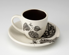 Espresso Cup and Saucer: Hops #1