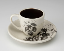 Espresso Cup and Saucer: Hops #2