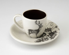 Espresso Cup and Saucer: Fallow Buck