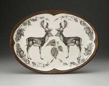 Small Oval Platter: Fallow Buck