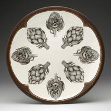 Large Round Platter: Artichokes
