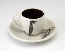 Espresso Cup and Saucer: Adelie Penguin