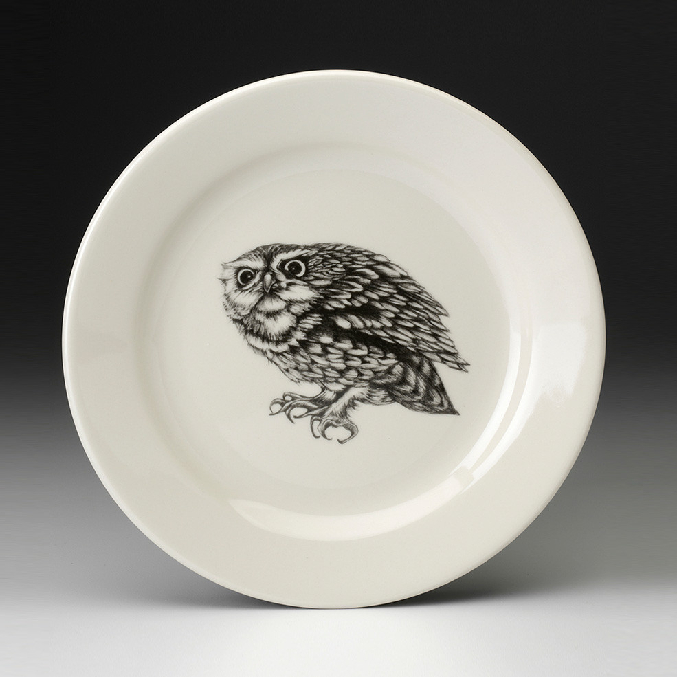 Salad Plate Screech Owl 2 Laura Zindel Design