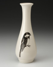 Bud Vase: Black-Capped Chickadee