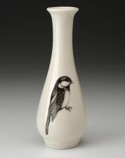 Bud Vase: Black-Capped Chickadee