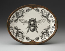 Small Serving Dish: Honey Bee with Apple Blossom