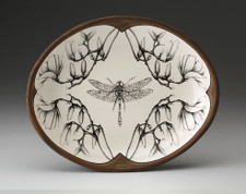 Small Serving Dish: Dragonfly Magnolia Branch