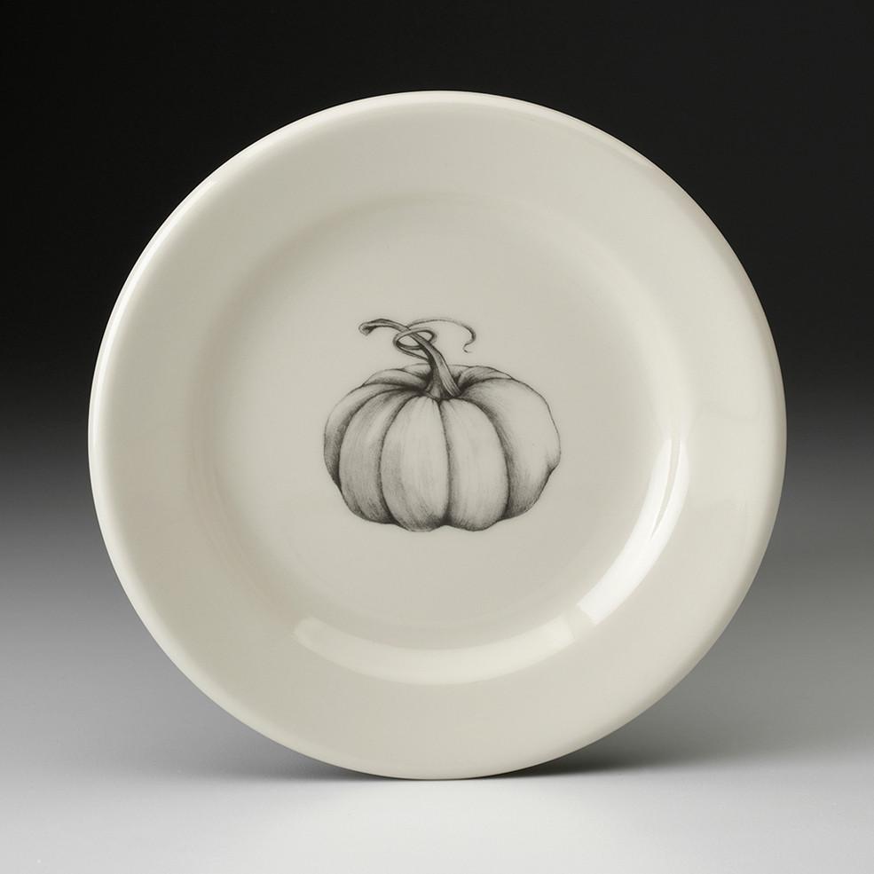 Bread Plate Ghost Pumpkin Laura Zindel Design