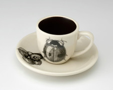 Espresso Cup and Saucer: Lady Beetle