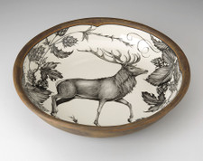 Small Pasta Bowl: Red Buck
