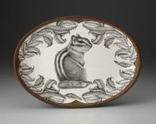 Small Oval Platter: Chipmunk #3
