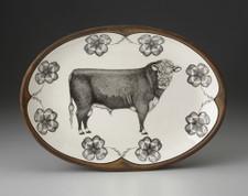 Small Oval Platter: Hereford Bull