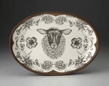 Small Oval Platter: Suffolk Sheep