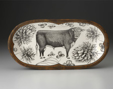 Rectangular Serving Dish: Hereford Bull