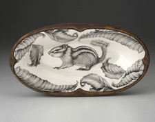 Oblong Serving Dish: Chipmunk #2