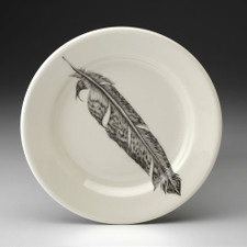 Bread Plate: Pheasant Feather