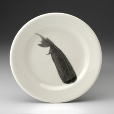 Bread Plate: Crow Feather