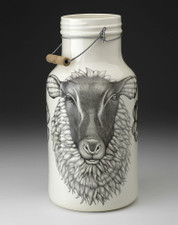 Jug with Handle: Suffolk Sheep