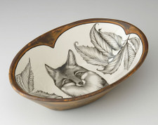 Large Serving Dish: Fox Portrait