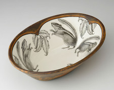 Large Serving Dish: Chipmunk #1
