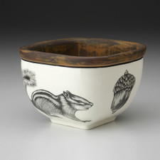 Small Square Bowl: Chipmunk #2