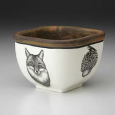 Small Square Bowl: Fox Portrait