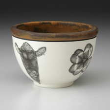 Small Round Bowl: Angus Bull