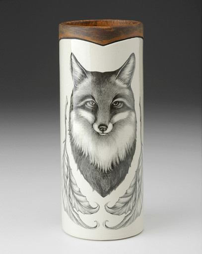 SMALL VASE - WOODLAND Fox LAURA ZINDEL DESIGN